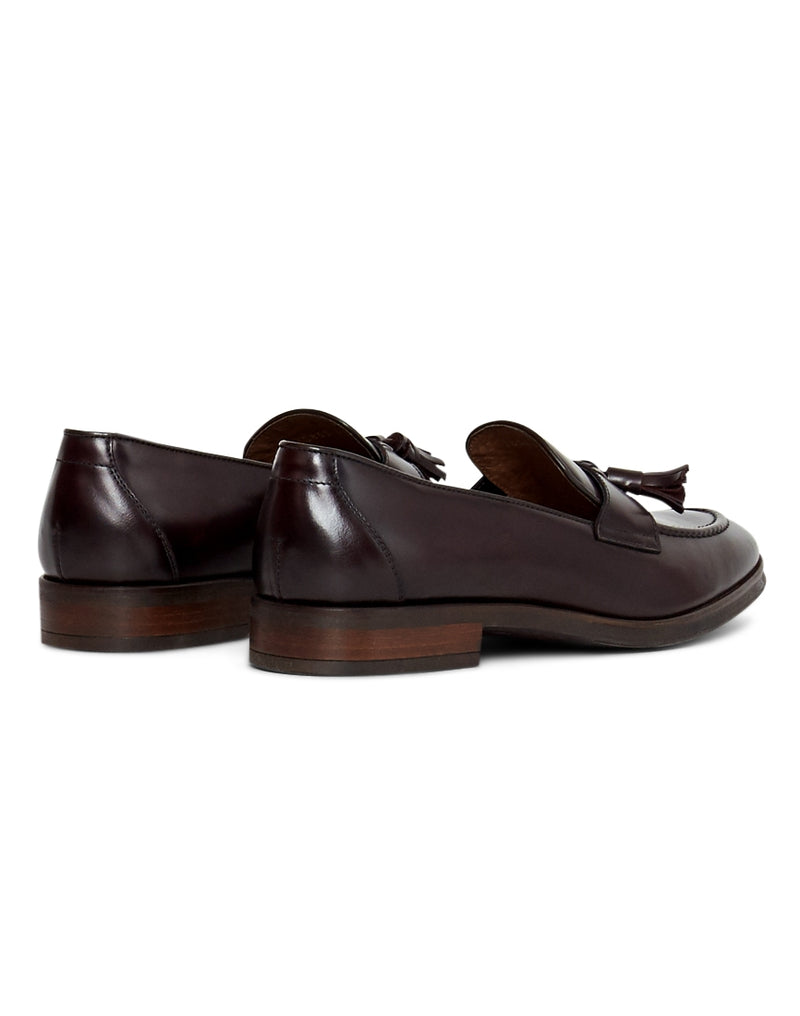 The Idle Man - Leather Loafer Burgundy