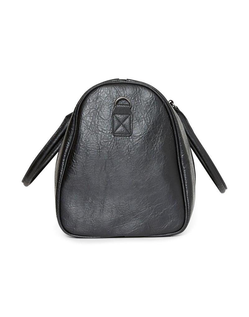 The Idle Man - Leather Look Overnight Bag Black
