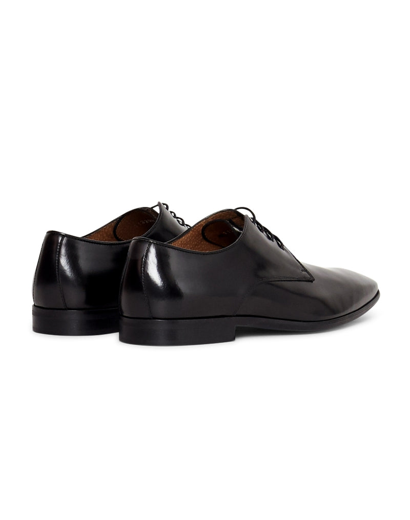 The Idle Man - Leather Smart Shoe Black