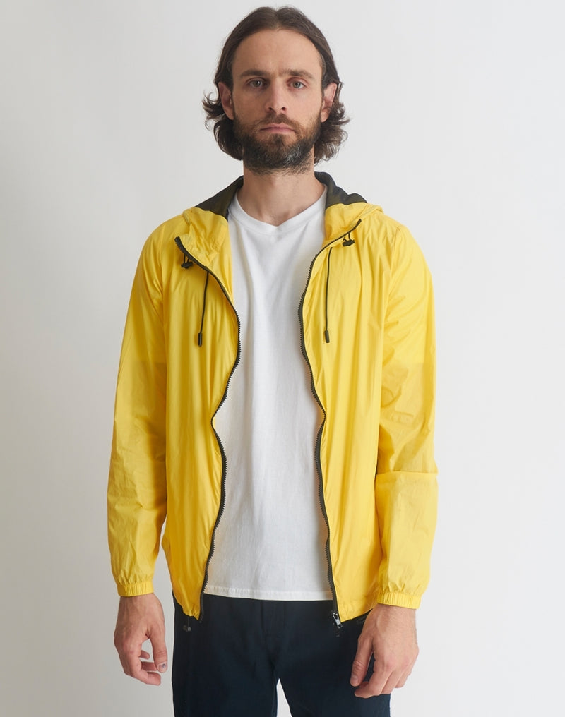 The Idle Man - Lightweight Hooded Windbreaker Yellow