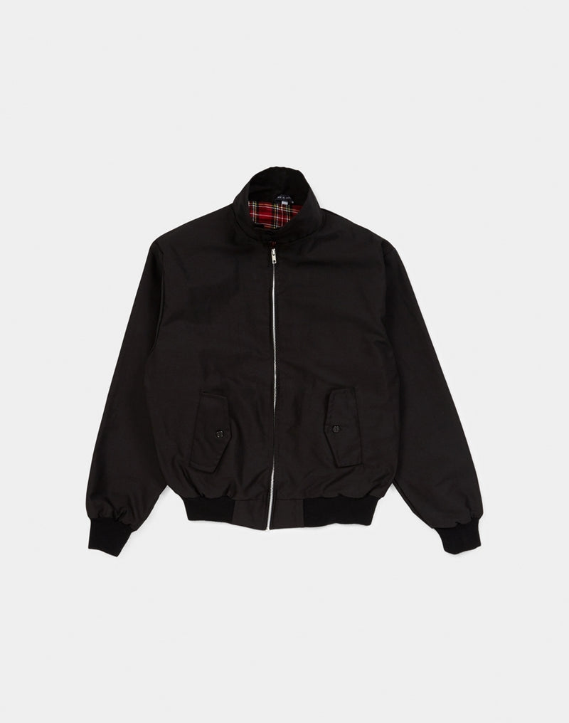 The Idle Man - Made In England Vintage Harrington Jacket Black