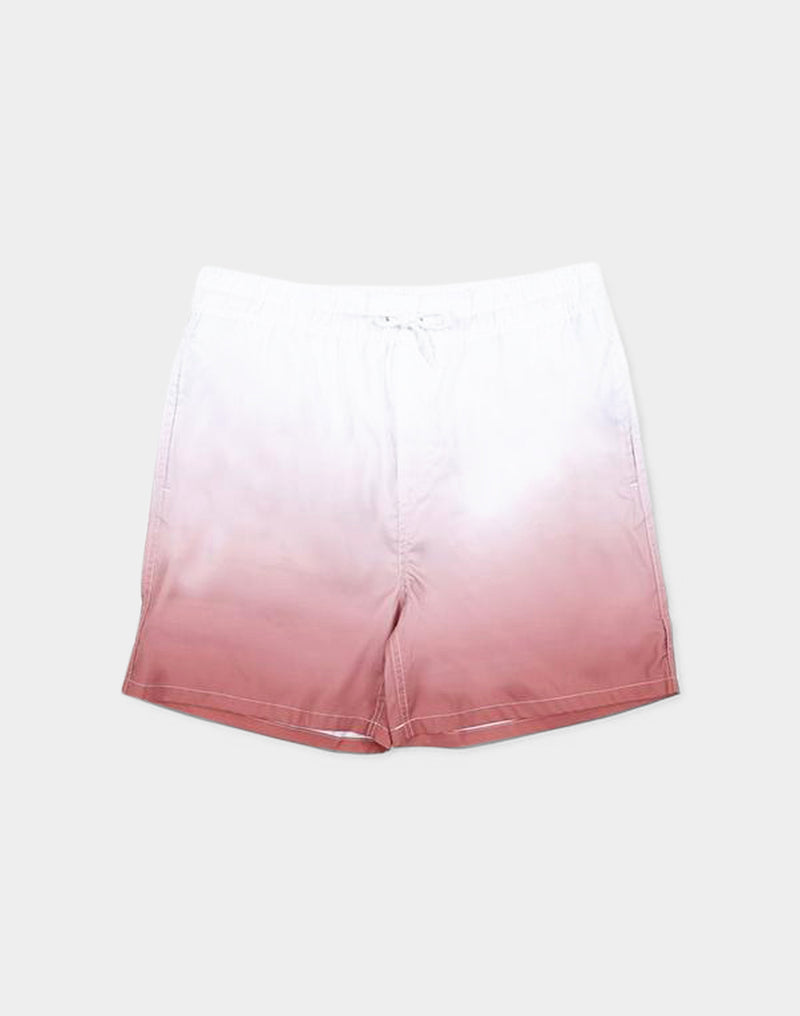 The Idle Man - Mid Length Faded Swim Shorts Pink