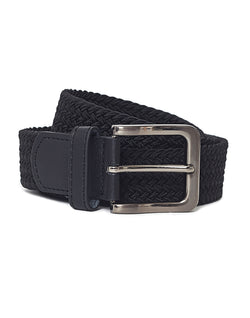 The Idle Man - Elastic Weave Belt Black