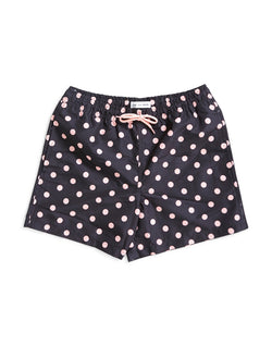 The Idle Man - Polka Dot Swim Shorts Black