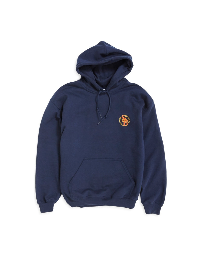 The Idle Man - Stamford Ball Park Embroidered Over Head Hoodie Navy