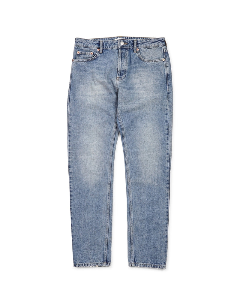 The Idle Man - Stonewash Rigid Taper Jeans