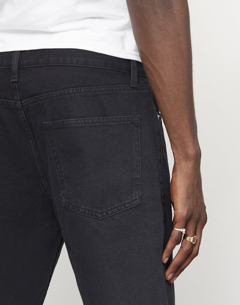 The Idle Man - Straight Leg Dad Fit Jeans Black