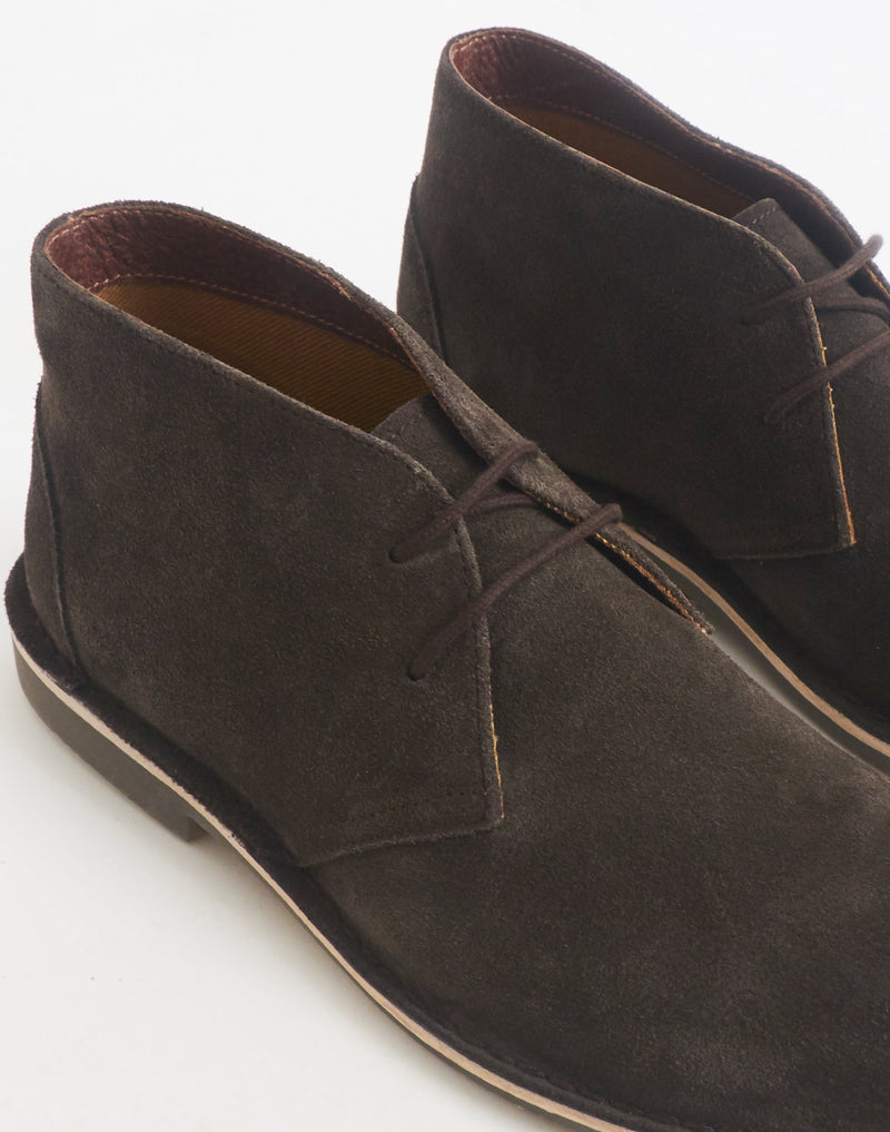 The Idle Man - Suede Desert Boot Brown