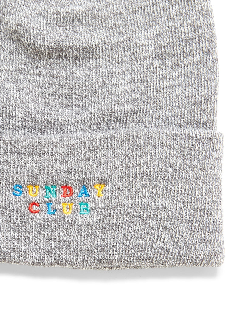 The Idle Man - Embroidered Sunday Club Beanie Grey