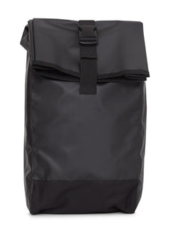 The Idle Man - Waterproof Fabric Roll Top Backpack Black