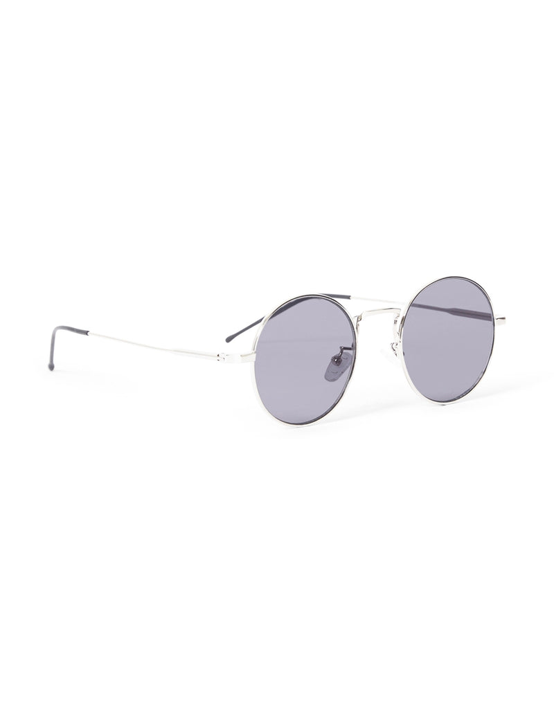 The Idle Man - Vintage Round Lens Sunglasses Silver