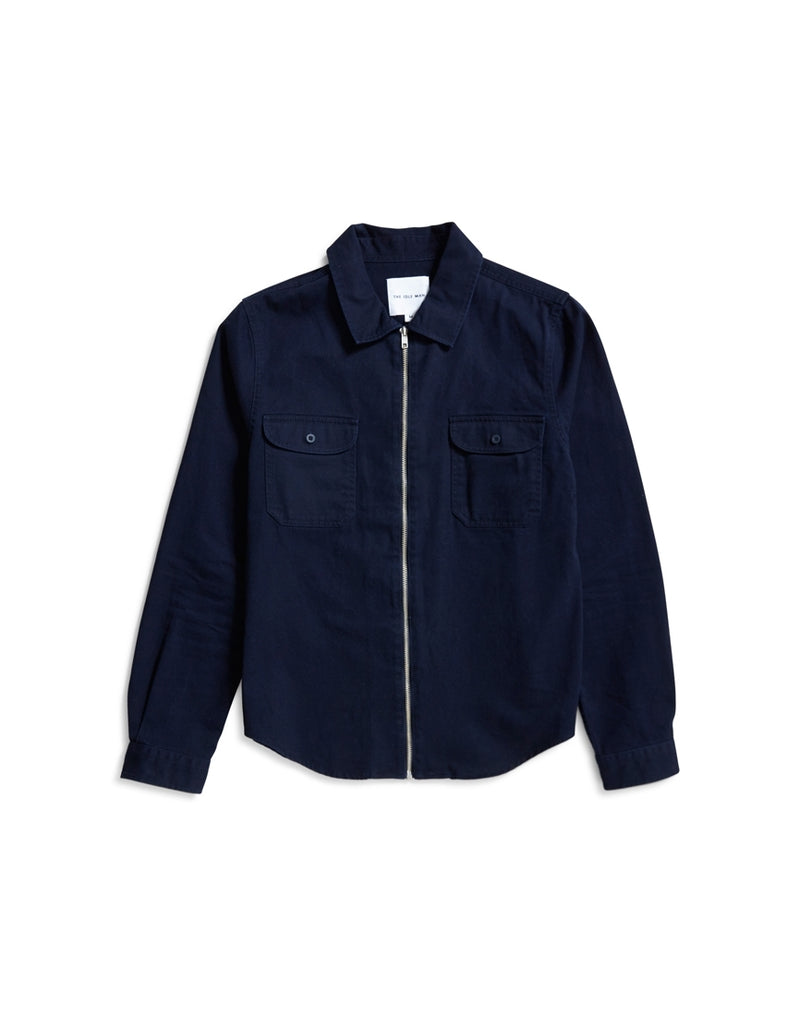 The Idle Man - Zip Overshirt Navy