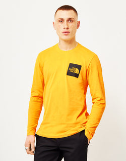 The North Face - Black Label Long Sleeve Fine T-Shirt Yellow