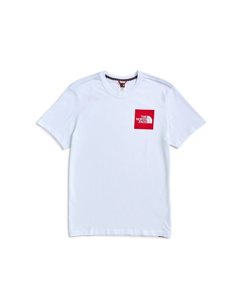 The North Face - Short Sleeve Fine T-Shirt White & Red
