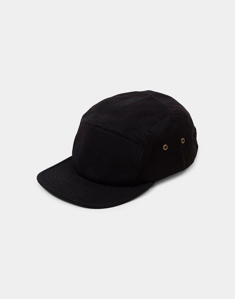 The Idle Man - 5 Panel Cap Black