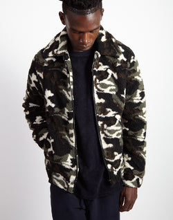 The Idle Man - Camo Fleece Zip Up