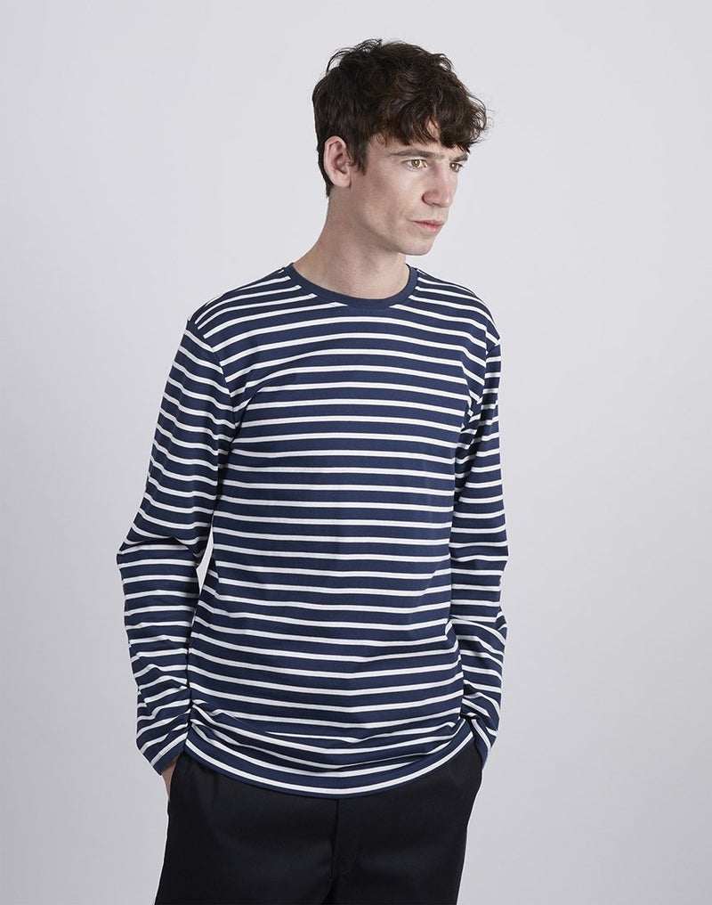 The Idle Man - Heavy Long Sleeve T-Shirt Blue