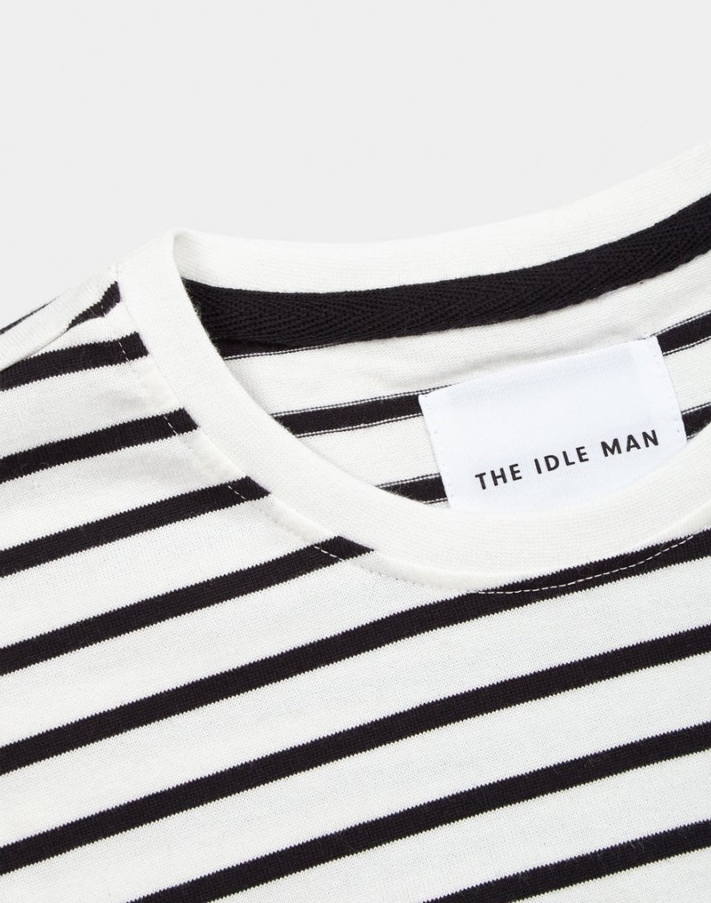 The Idle Man - Heavy Long Sleeve T-Shirt White