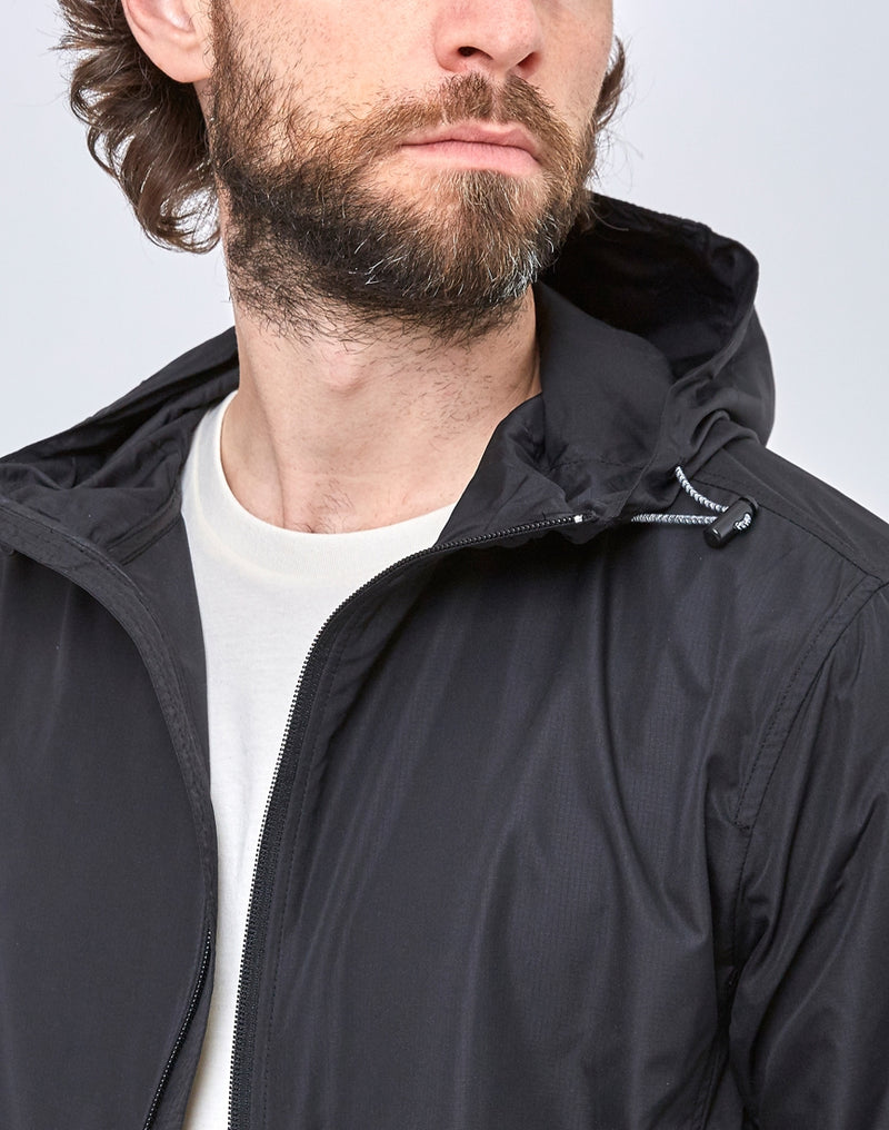 The Idle Man - Lightweight Recycled Ripstop Jacket Black