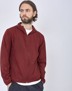 The Idle Man - Lightweight Recycled Ripstop Jacket Burgundy
