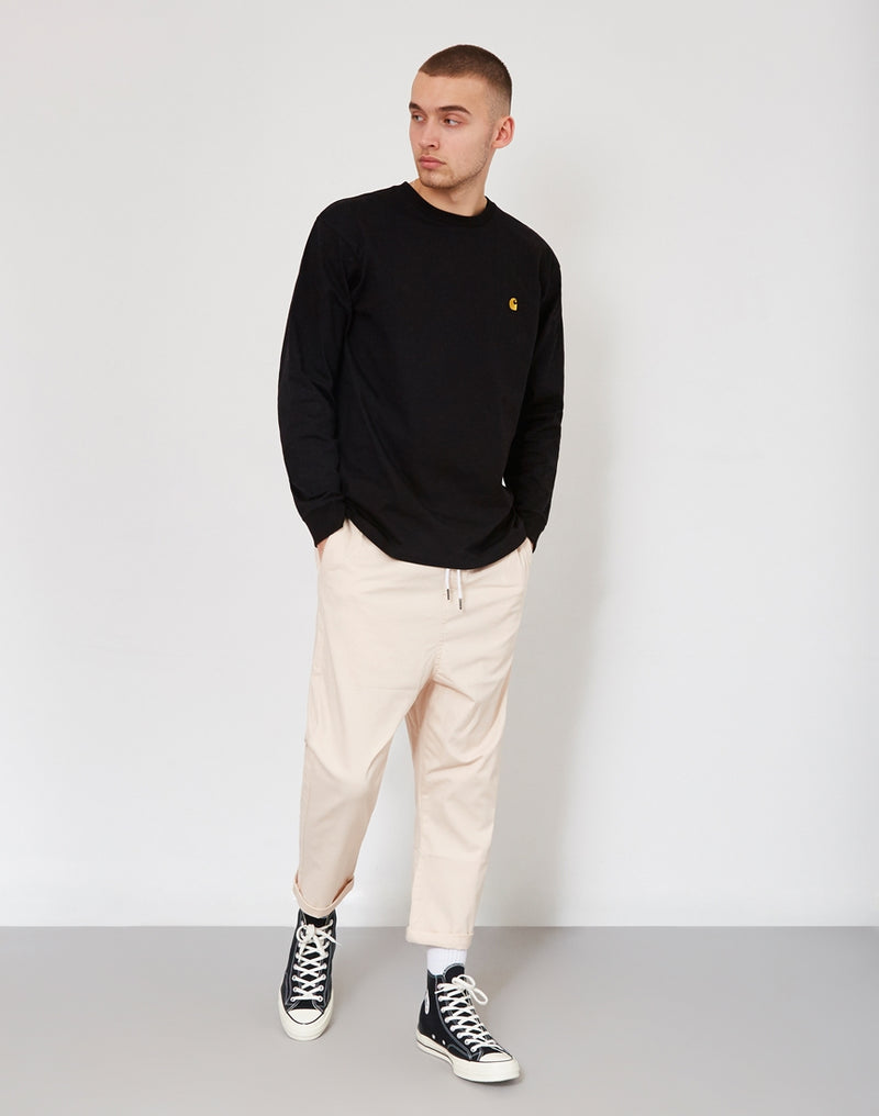 The Idle Man - Loose Fit Cropped Chino Pink