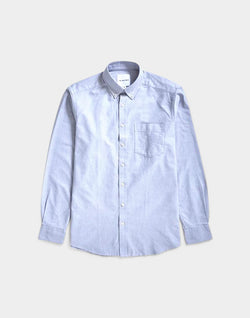 The Idle Man - Relaxed Modern Fit Linen Mix Shirt Grey