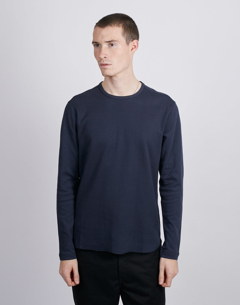 The Idle Man -O-Neck Knit Jumper Blue