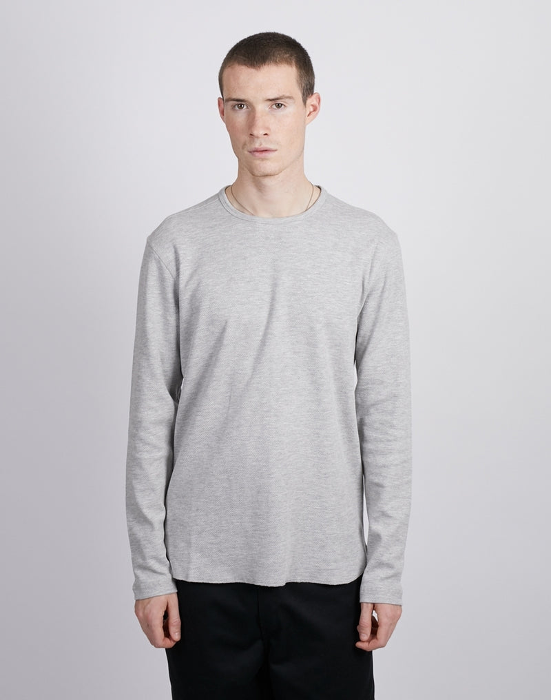 The Idle Man -O-Neck Knit Jumper Grey
