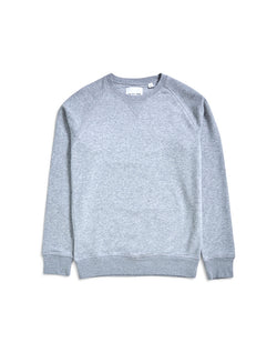 The Idle Man - Organic Raglan Sweatshirt Grey