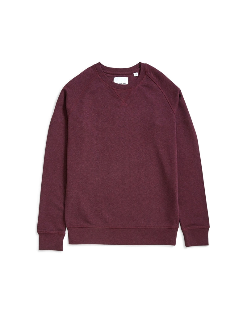 The Idle Man - Organic Raglan Sweatshirt Purple