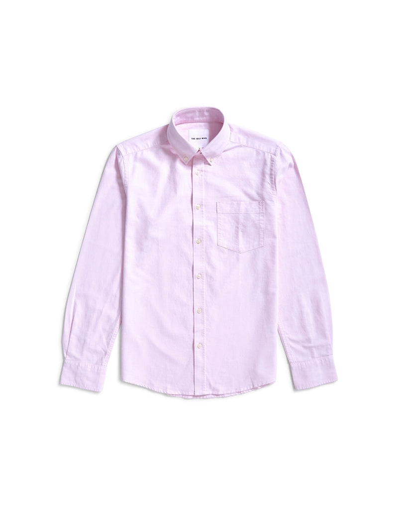 The Idle Man - Regular Slim Fit Oxford Shirt Pink