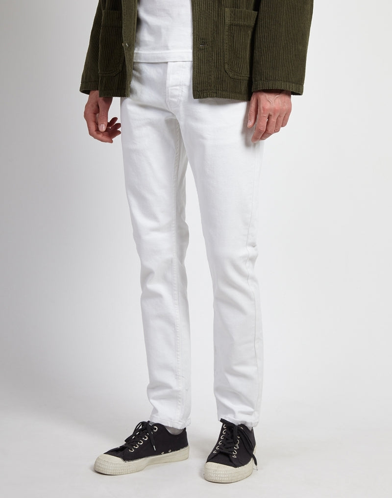 The Idle Man - Slim Fit Jeans White