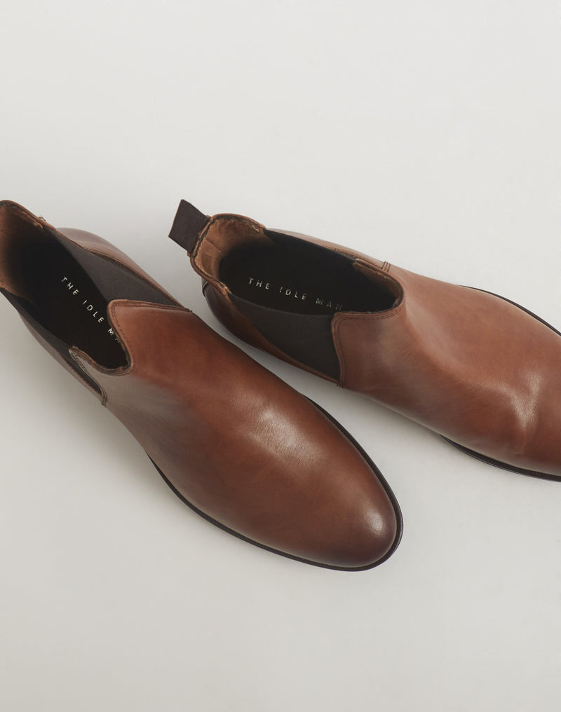 The Idle Man - Leather Chelsea Boot Tan
