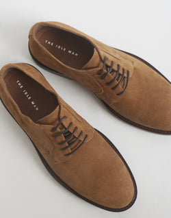 The Idle Man - Suede Derby Shoe Stone