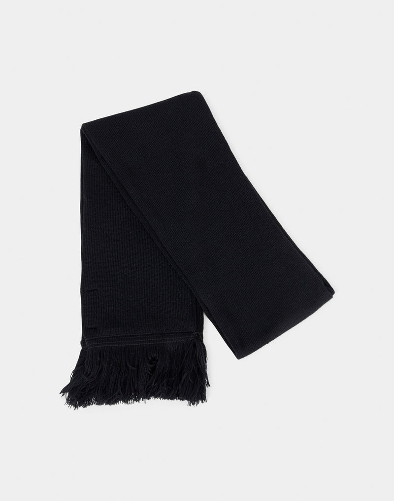 The Idle Man - Tassle Scarf Black