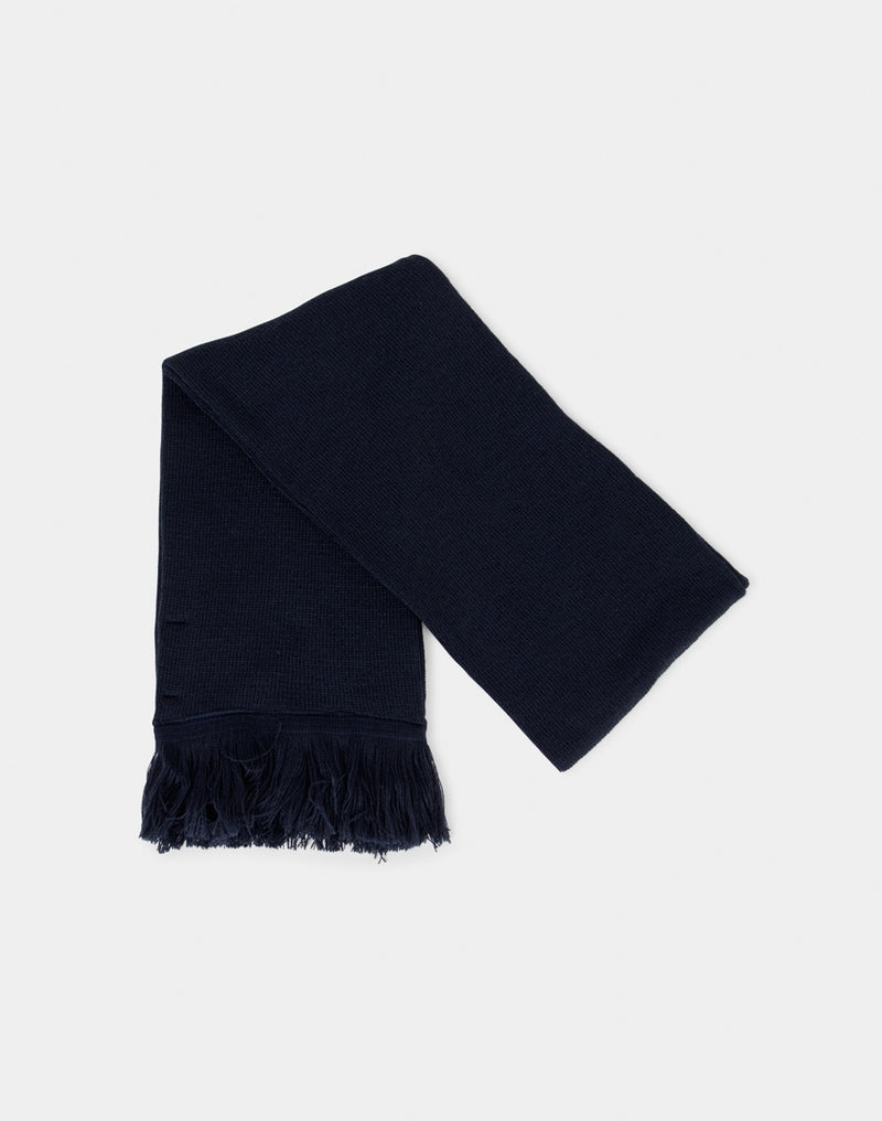 The Idle Man - Tassle Scarf Navy