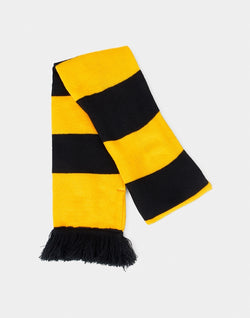 The Idle Man - Varsity Stripe Scarf Black & Gold