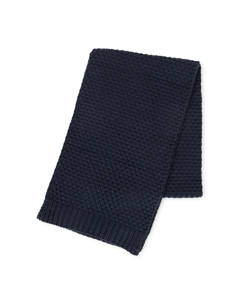 The Idle Man - Waffle Knit Scarf Blue