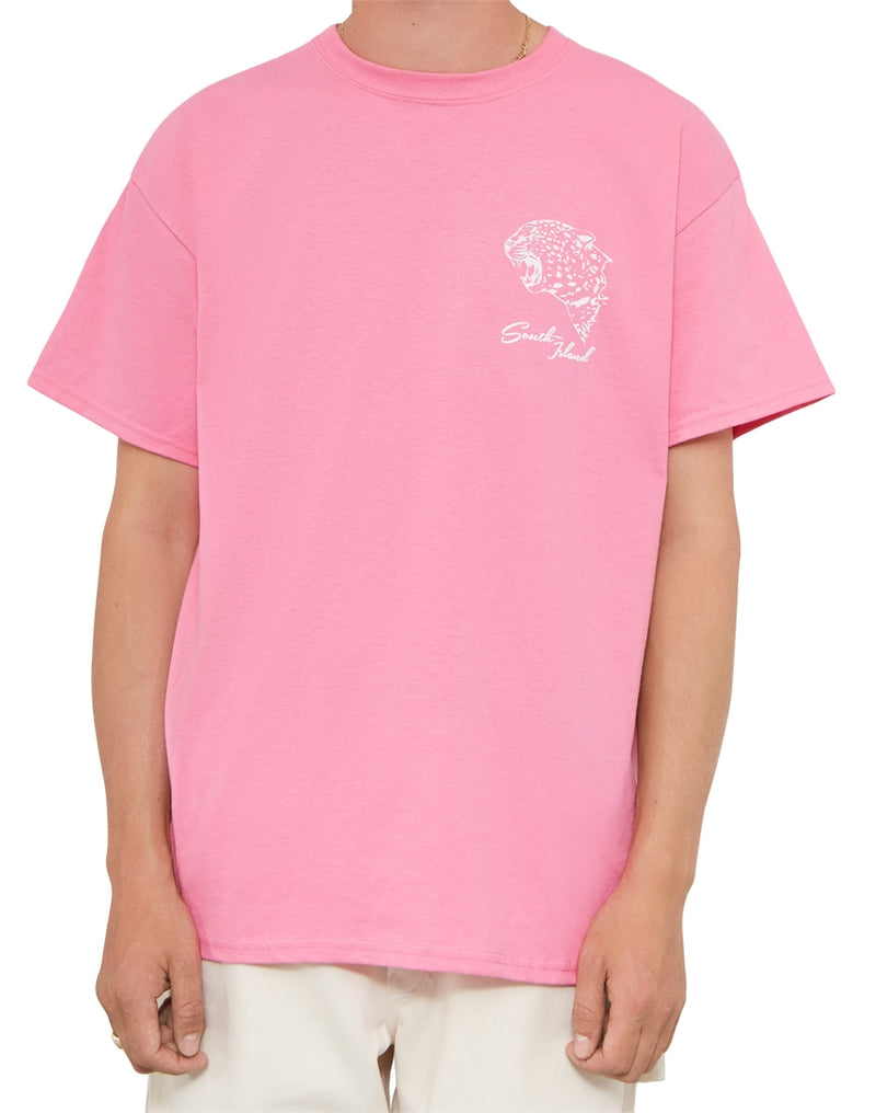 The Idle Man - South Island Skate T-Shirt Pink