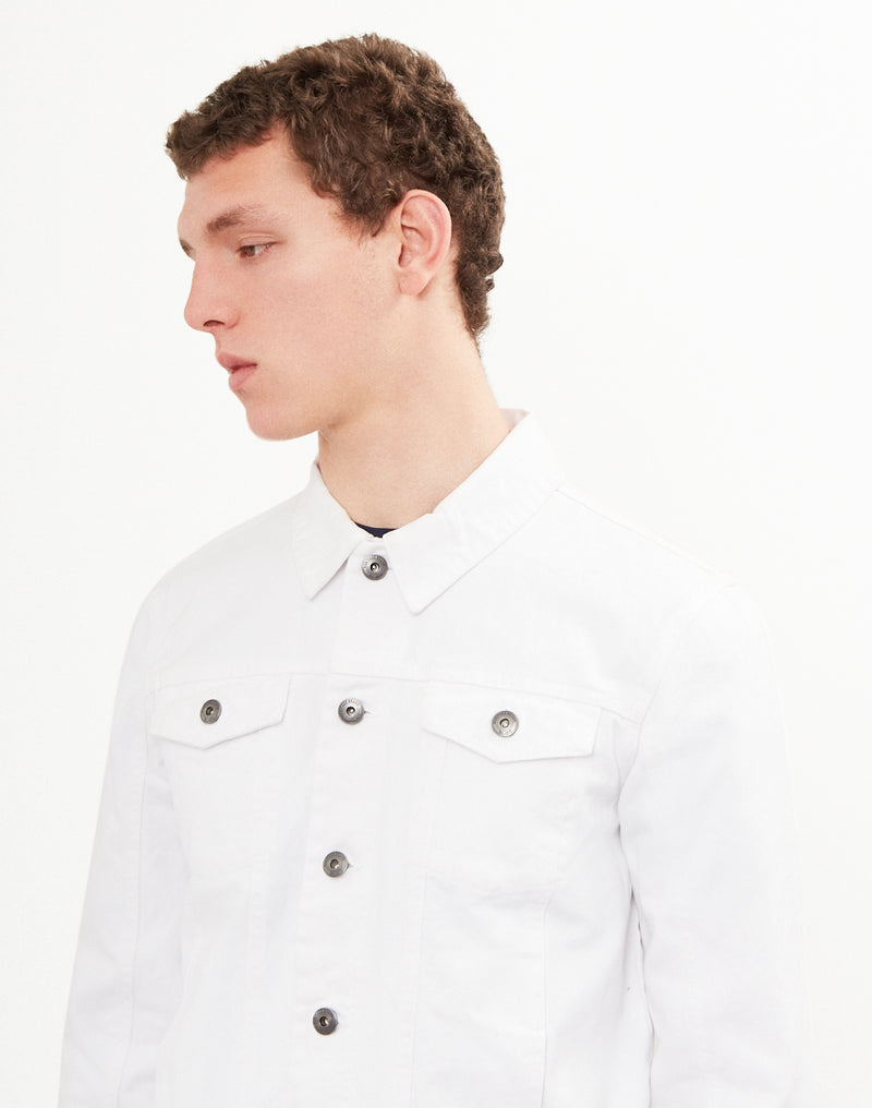 The Idle Man - Denim Jacket White