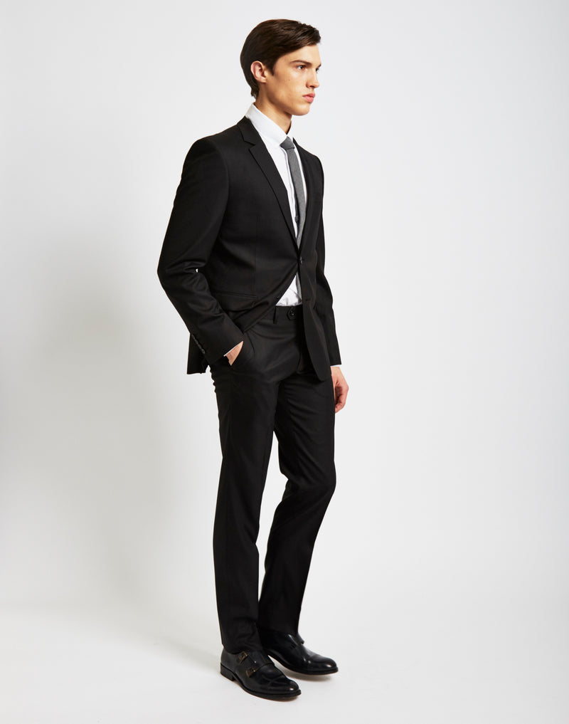 The Idle Man - Suit Trousers in Slim Fit Black
