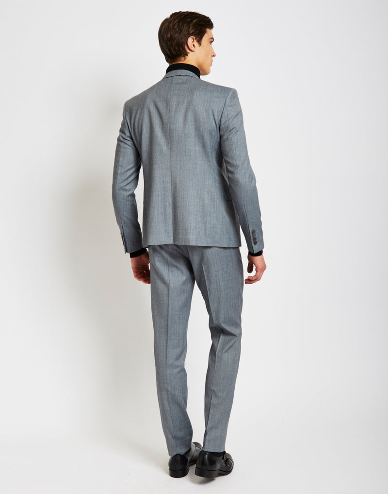 The Idle Man - Suit Jacket in Skinny Fit - Grey