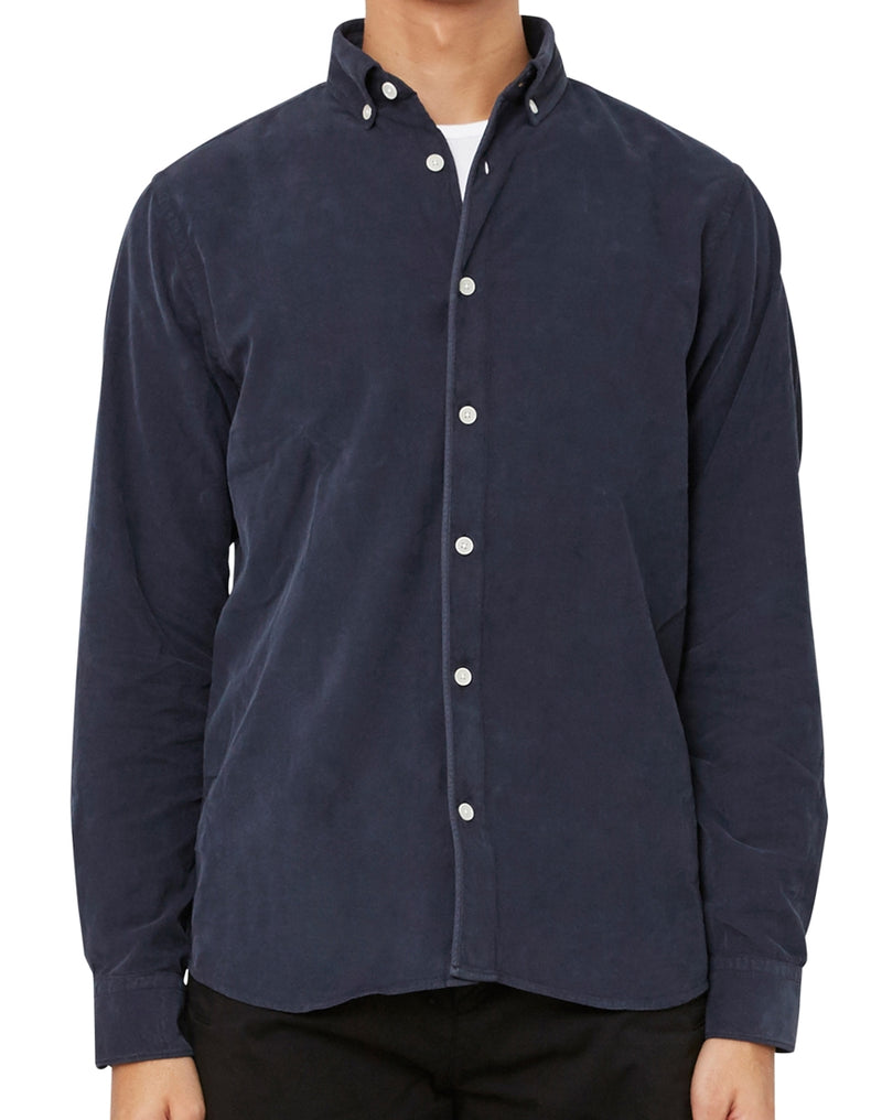 Wax London - Bampton Shirt Navy
