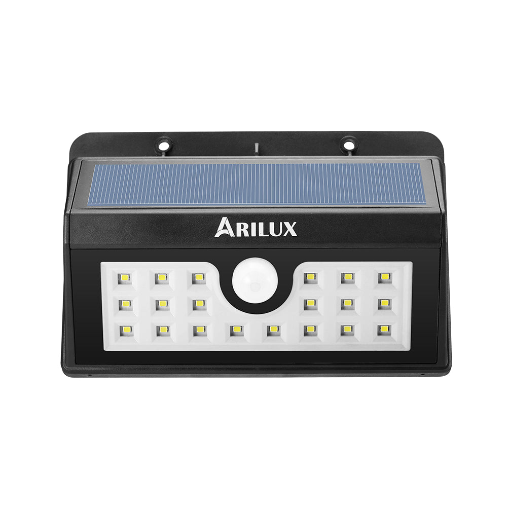 ARILUX PL-SL 02 Wireless Solar Powered 20 LED Waterproof PIR Motion Sensor Outdoor Wall Light