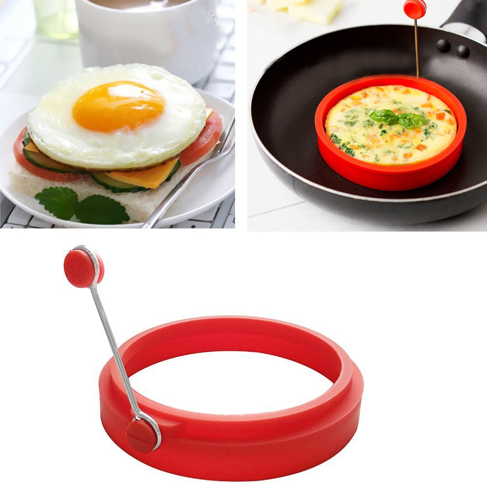 Omelette Maker Mold Round Shape Silicone Nonstick Frying Egg Mould Shape Ring Pancake Rings Mold
