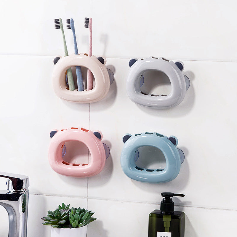 Honana Wall Mounted Toothbrush Holder Bathroom Kitchen Family Toothbrush Suction Cups Holder