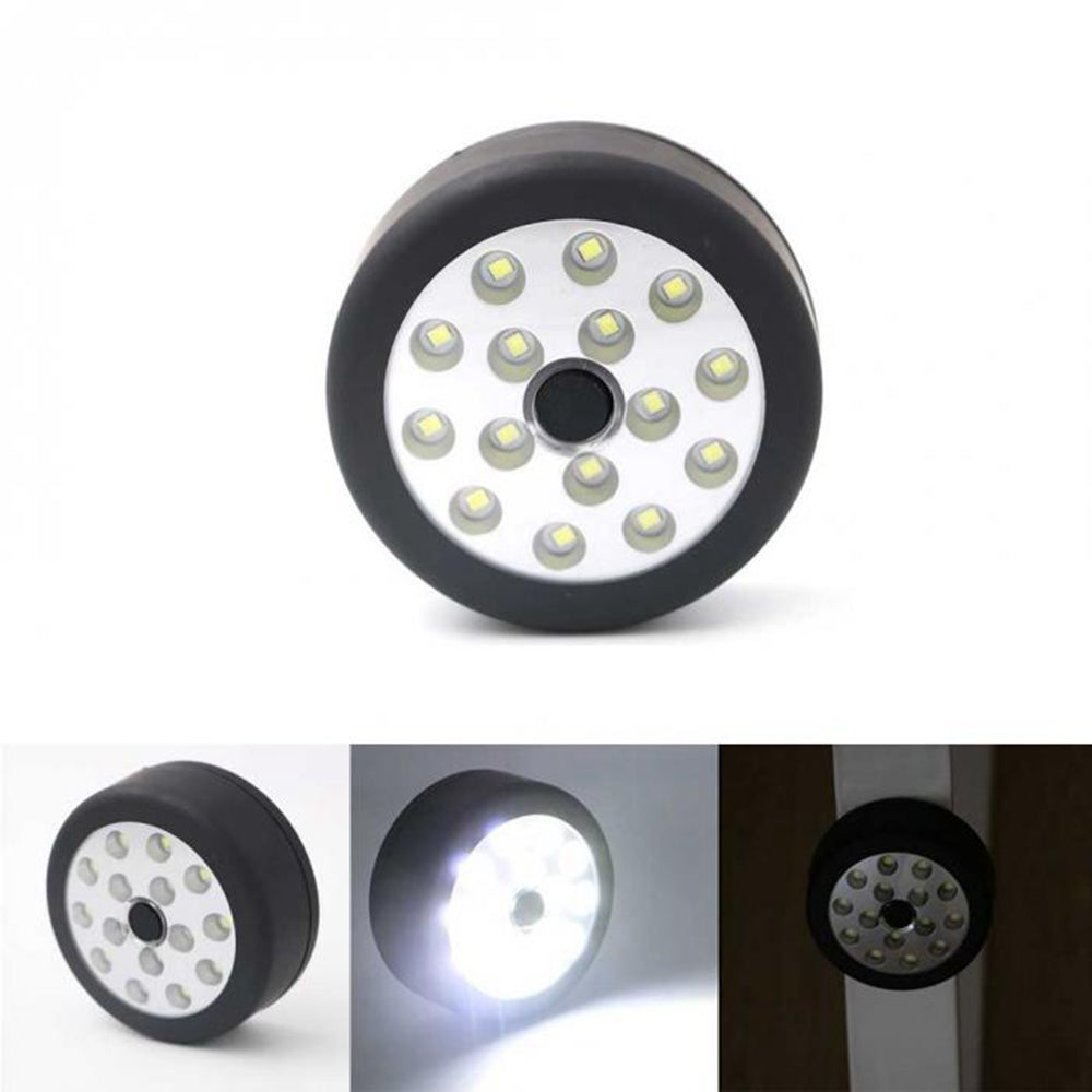 Portable Mini 3W 15 LED Magnetic Work Light Folding Hook Round Camping Tent Lamp Torch for Ourdoor