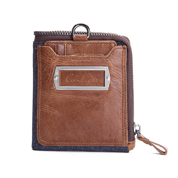Men Brifold Wallet Genuine Leather Wallets Multi Card Purses With Coin Pocket
