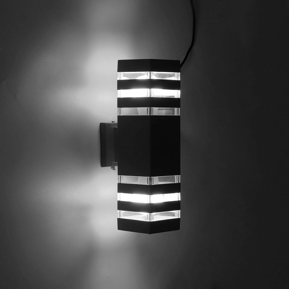 LED Wall Sconce Waterproof Porch Light,Black/Silver Modern Waterproof Wall Lamp,IP65 Waterproof Outdoor Up/Down Light