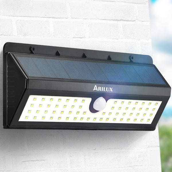 ARILUX® PL-SL 06 Solar Powered 62 LED PIR Motion Sensor Light Outdoor Waterproof IP65 Wall Lamp